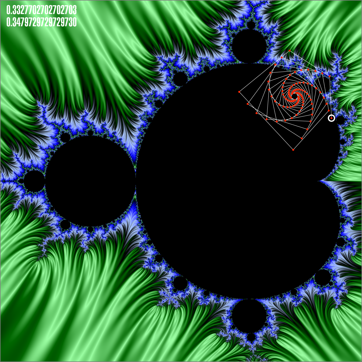 Mandelbrot Fractal Orbit Path