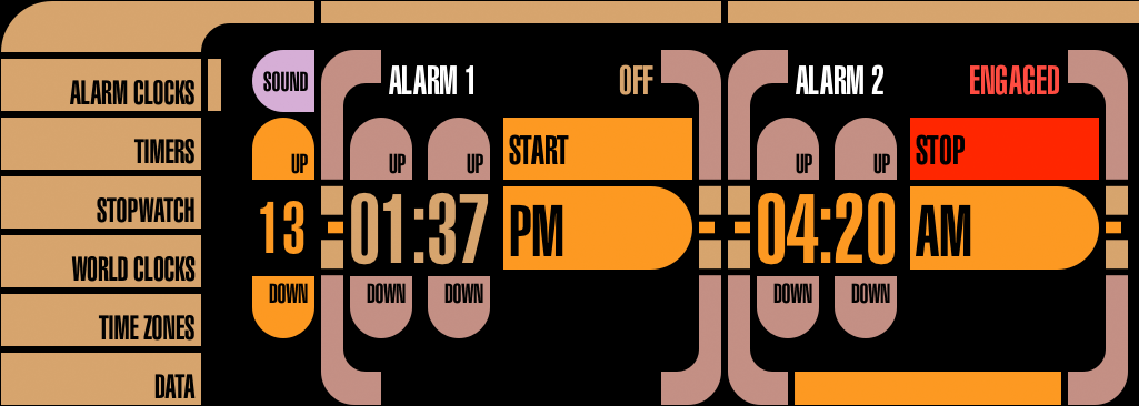 Alarm Clocks Controls